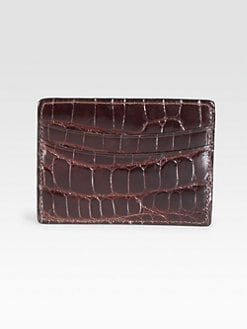 Saks Fifth Avenue Men's Collection - Alligator Credit Card Case