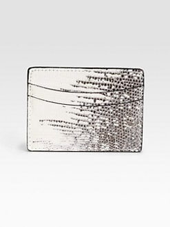 Saks Fifth Avenue Men's Collection - Lizard Credit Card Case