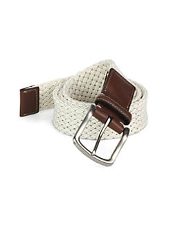 Saks Fifth Avenue Collection - Braided Linen Belt