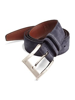 Saks Fifth Avenue Men's Collection - Suede Belt