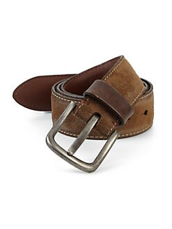 Saks Fifth Avenue Collection - Burnished Suede Belt