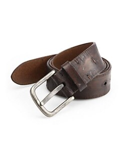 Saks Fifth Avenue Collection - Distressed Leather Belt