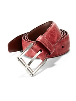 Saks Fifth Avenue Collection - Olied Shrunken Leather Belt