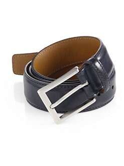 Saks Fifth Avenue Collection - Burnished Leather Belt