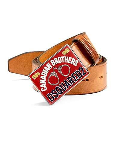 Handcuff Leather Buckle Belt