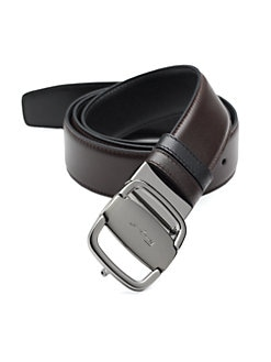 Salvatore Ferragamo - Adjustable & Reversible Vara Buckle Belt