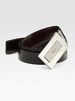 Salvatore Ferragamo - Logo Leather Belt