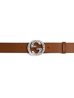 Gucci - Studded Interlocking G Buckle Belt