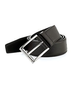Prada - Etched Saffiano Leather Belt