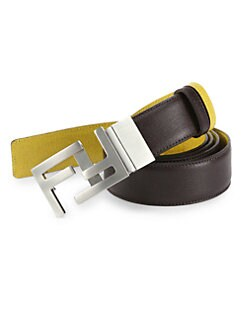 Fendi - Reversible Leather Belt