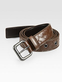 Bottega Veneta - Intrecciato Woven Leather Belt