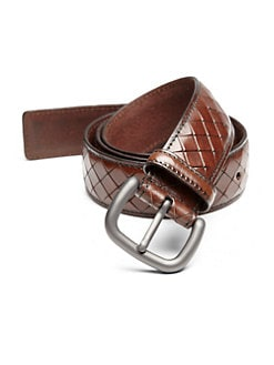 Bottega Veneta - Intreccio Scolpito Woven Leather Belt