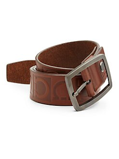 Salvatore Ferragamo - Stamped Gancini Belt