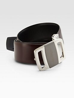 Salvatore Ferragamo - Leather Logo Belt