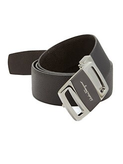 Salvatore Ferragamo - Reversible Pebbled Leather Belt