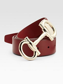 Salvatore Ferragamo - Double Gancini Leather Belt