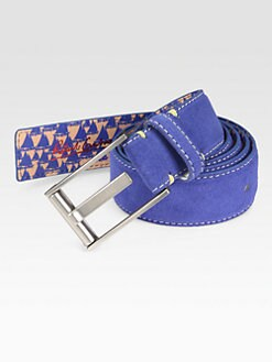 Robert Graham - Riverside Reversible Suede & Leather Belt