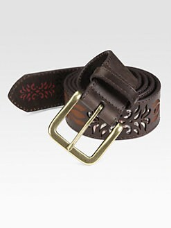 Robert Graham - Winstead Laser-Cut Leather Belt