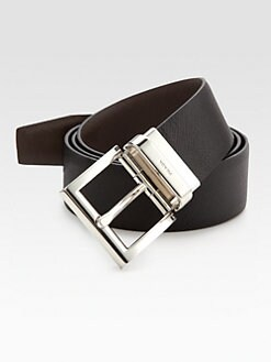 Prada - Saffiano Reversible Leather Belt