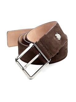 Salvatore Ferragamo - Adjustable Suede Belt