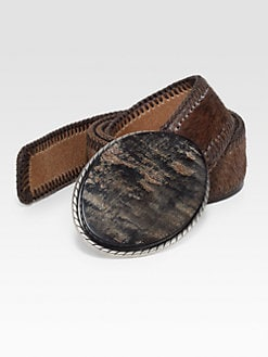Robert Graham - Pierson Cowhorn Buckle Leather Belt