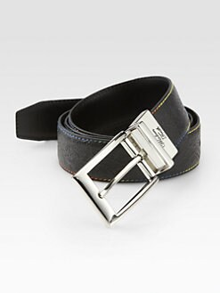 Robert Graham - Gardiner Paisley-Embossed Leather Belt