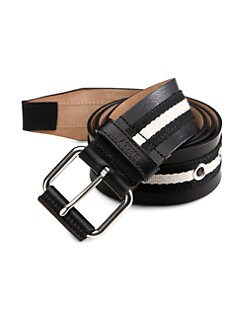 Bally - Striped Belt