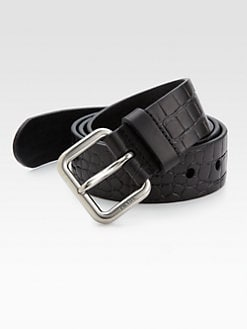 Prada - Stamped Leather Belt