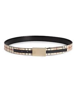 Burberry - Reiley Leather Belt