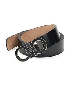 Salvatore Ferragamo - Adjustable Shiny Box Belt