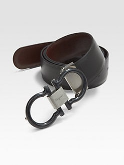Salvatore Ferragamo - Double Gancini Reversible Belt