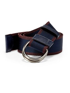 Prada - Bicolor Webbed D-Ring Belt