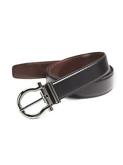 Salvatore Ferragamo - Reversible Gancini-Buckle Belt