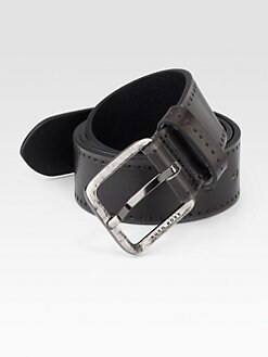 BOSS Black - Sigfrido Perforated Leather Belt