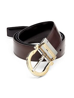 Salvatore Ferragamo - Adjustable Leather Gancini Belt