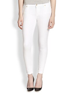 7 For All Mankind - Pieced Jacquard Skinny Jeans