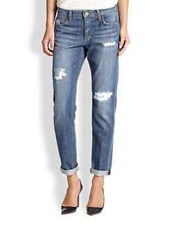 Joe's - Distressed Easy Highwater Jeans