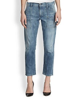 Citizens of Humanity - Cropped Carpenter Straight-Leg Jeans