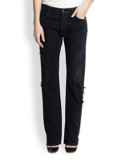 Citizens of Humanity - Frankie Distressed Straight-Leg Jeans