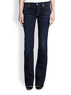 7 For All Mankind - Contour-Waistband Skinny Bootcut Jeans