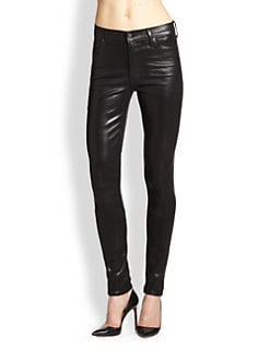 Citizens of Humanity - The Rocket Coated High-Rise Skinny Jeans