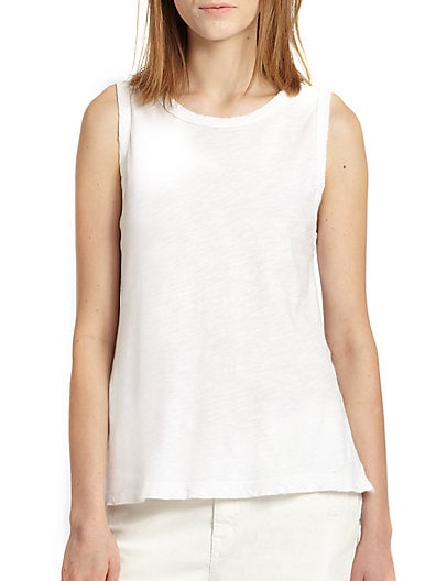 The Muscle Tee Cotton Jersey Burnout Tank