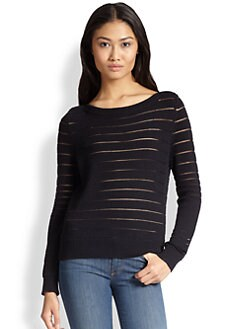 J Brand - Ossie Sheer-Striped Sweater