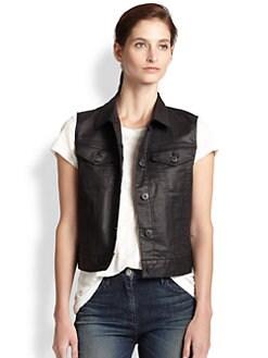 3x1 - Coated Denim Vest