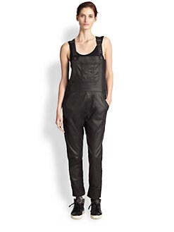 3x1 - Coated Denim Overalls