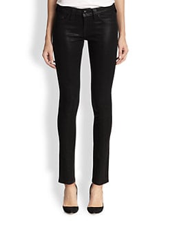 True Religion - Halle Coated Super Skinny Jeans