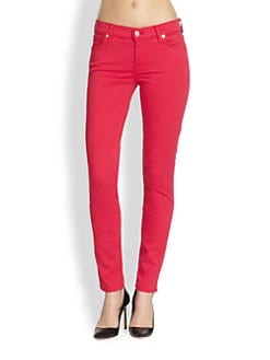 7 For All Mankind - The Ankle Skinny Luxe Twill Jeans