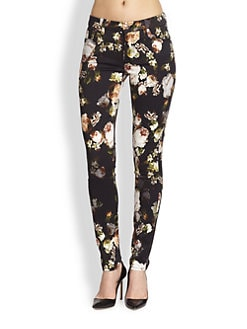 7 For All Mankind - The Skinny Floral-Print Jeans