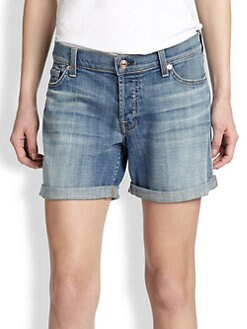 7 For All Mankind - Boyfriend-Fit Denim Shorts