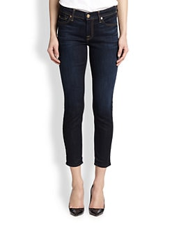 7 For All Mankind - Cropped Skinny Jeans